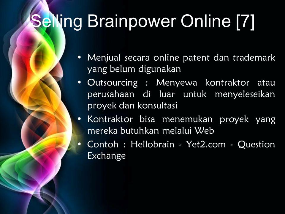 Selling Brainpower Online [7]
